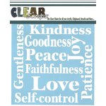 Clear Scraps - Mascils - 12 x 12 Masking Stencil - Fruit of Spirit