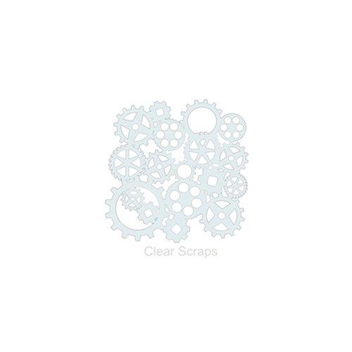 Clear Scraps - Mascils - 6 x 6 Masking Stencil - Gears