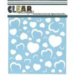 Clear Scraps - Mascils - 12 x 12 Masking Stencil - Heart Wall