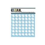 Clear Scraps - Mascils - 6 x 6 Masking Stencil - Houndstooth