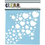 Clear Scraps - Mascils - 12 x 12 Masking Stencil - Heart Arrow