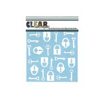 Clear Scraps - Mascils - 6 x 6 Masking Stencil - Keys n Locks