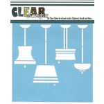 Clear Scraps - Mascils - 12 x 12 Masking Stencil - Lamps