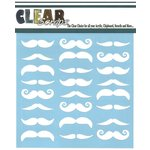 Clear Scraps - Mascils - 12 x 12 Masking Stencil - Mustaches