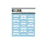 Clear Scraps - Mascils - 6 x 6 Masking Stencil - Mustaches