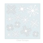 Clear Scraps - Mascils - 12 x 12 Masking Stencil - Nordic Snowflake