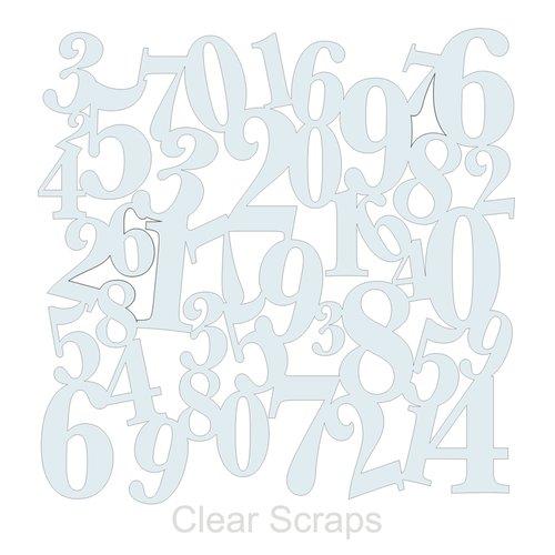 Clear Scraps - Mascils - 12 x 12 Masking Stencil - Numbers