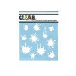 Clear Scraps - Mascils - 6 x 6 Masking Stencil - Paint Splat