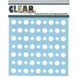 Clear Scraps - Mascils - 12 x 12 Masking Stencil - Polka Dots