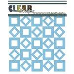 Clear Scraps - Mascils - 12 x 12 Masking Stencil - Retro Square