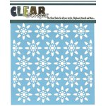 Clear Scraps - Mascils - 12 x 12 Masking Stencil - Seamless Floral 1