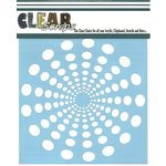Clear Scraps - Mascils - 12 x 12 Masking Stencil - Spiral Dots