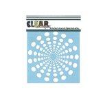 Clear Scraps - Mascils - 6 x 6 Masking Stencil - Spiral Dots