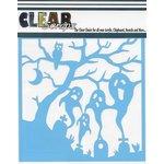 Clear Scraps - Mascils - Halloween - 6 x 6 Masking Stencil - Spooky Graveyard