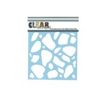 Clear Scraps - Mascils - 6 x 6 Masking Stencil - Stones