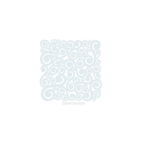 Clear Scraps - Mascils - 6 x 6 Masking Stencil - Swirls