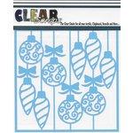 Clear Scraps - Mascils - Christmas - 12 x 12 Masking Stencil - Swirl X-mas Bulbs