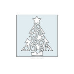 Clear Scraps - Mascils - 6 x 6 Masking Stencil - Swirl Christmas Tree