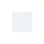 Clear Scraps - Mascils - 6 x 6 Masking Stencil - Triangles