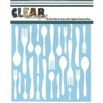 Clear Scraps - Mascils - 12 x 12 Masking Stencil - Kitchen Utensils