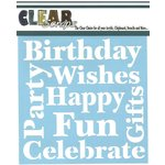 Clear Scraps - Mascils - 12 x 12 Masking Stencil - Wishes
