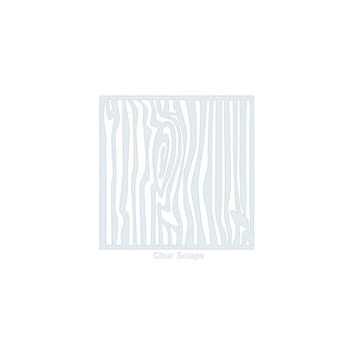Clear Scraps - Mascils - 6 x 6 Masking Stencil - Wood Grain