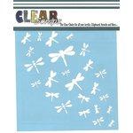 Clear Scraps - Mascils - 12 x 12 Masking Stencil - Dragonfly Wall
