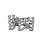 Clear Scraps - Expressions - Clear Titles - Small - Happy B Day