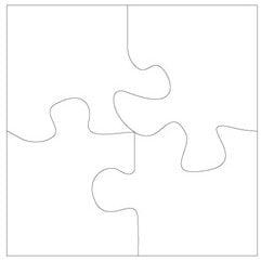 Clear Scraps - Clear Album - XL Puzzle Pieces, CLEARANCE