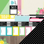 Chickaniddy Crafts - 365 Collection - 12 x 12 Double Sided Paper - Daily Schedule
