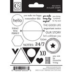 Chickaniddy Crafts - 365 Collection - Clear Acrylic Stamps
