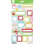 Chickaniddy Crafts - Jolly Good Collection - Christmas - Cardstock Stickers - Journal Tags