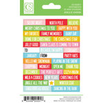 Chickaniddy Crafts - Jolly Good Collection - Christmas - Cardstock Stickers - Mini Sentiments
