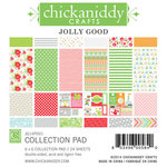 Chickaniddy Crafts - Jolly Good Collection - Christmas - 6 x 6 Paper Pad