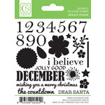 Chickaniddy Crafts - Jolly Good Collection - Christmas - Clear Acrylic Stamps - Mini Countdown
