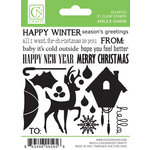 Chickaniddy Crafts - Jolly Good Collection - Christmas - Clear Acrylic Stamps - Mini Illustrated