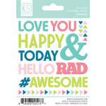 Chickaniddy Crafts - Yippee Collection - Enamel Stickers - Words