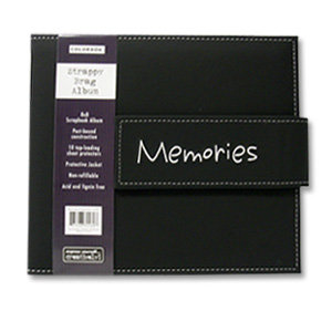 Colorbok - Strappy Bag Album - 8x8 - Memories, CLEARANCE
