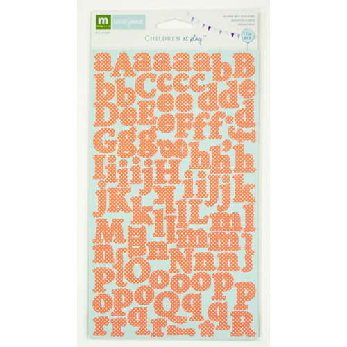Colorbok - Making Memories - Sarah Jane Collection - Cardstock Stickers - Alphabet - Boy