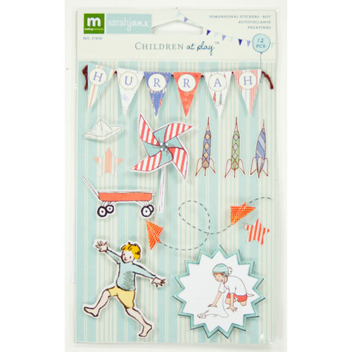 Colorbok - Making Memories - Sarah Jane Collection - 3 Dimensional Stickers - Boy