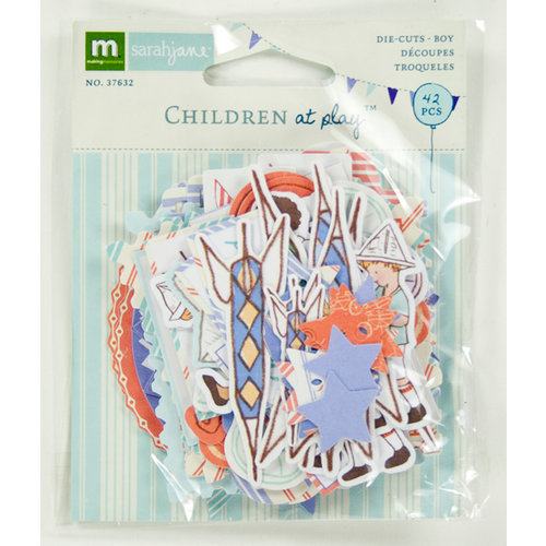 Colorbok - Making Memories - Sarah Jane Collection - Die Cut Cardstock Pieces - Boy