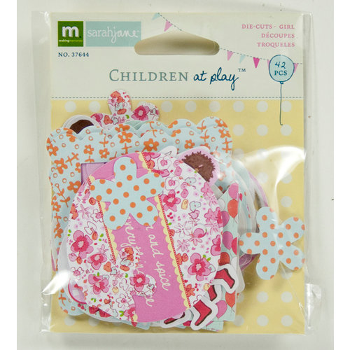 Colorbok - Making Memories - Sarah Jane Collection - Die Cut Cardstock Pieces - Girl