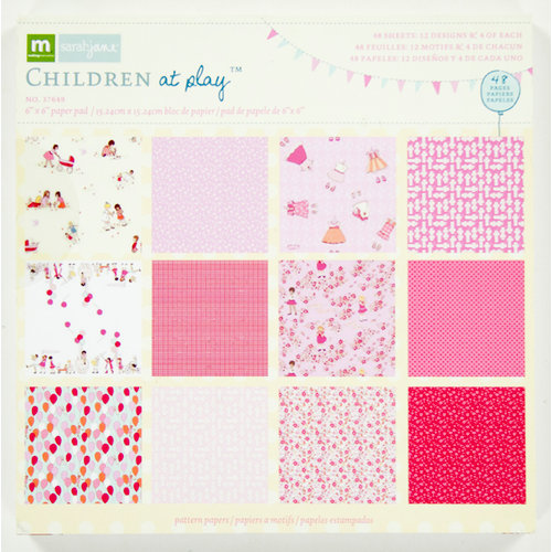 Colorbok - Making Memories - Sarah Jane Collection - 6 x 6 Paper Pad - Girl