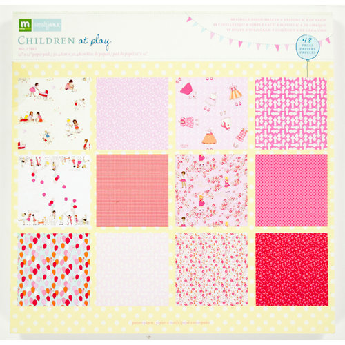 Colorbok - Making Memories - Sarah Jane Collection - 12 x 12 Paper Pad - Girl