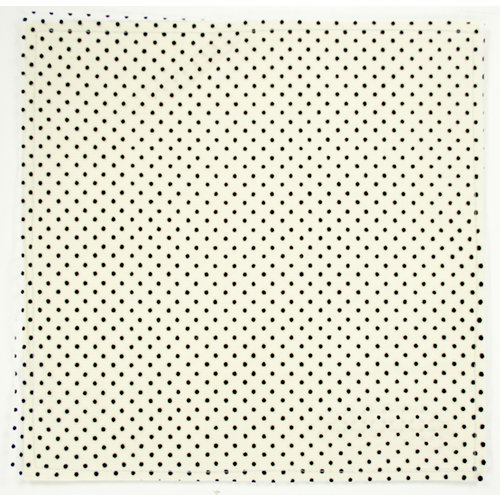 Colorbok - Making Memories - Modern Millinery Collection - 12 x 12 Textile Paper - Net Mini Dot - Black