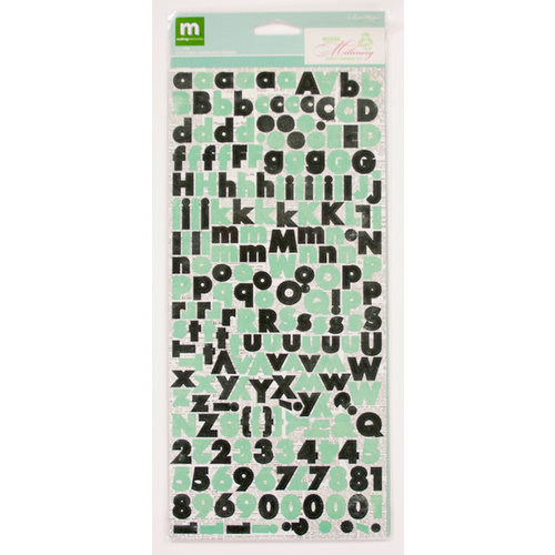 Colorbok - Making Memories - Modern Millinery Collection - Cardstock Stickers - Alphabet