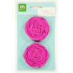 Colorbok - Making Memories - Modern Millinery Collection - Flower Embellishments - Rolled Roses - Pink