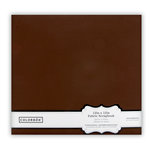 Colorbok - Fabric - 12 x12 - Postbound Scrapbook Albums - Dark Brown