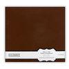 Colorbok - Fabric - 12 x12 - Postbound Scrapbook Albums - Dark Brown