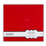 Colorbok - Fabric - 12 x12 - Postbound Scrapbook Albums - Red